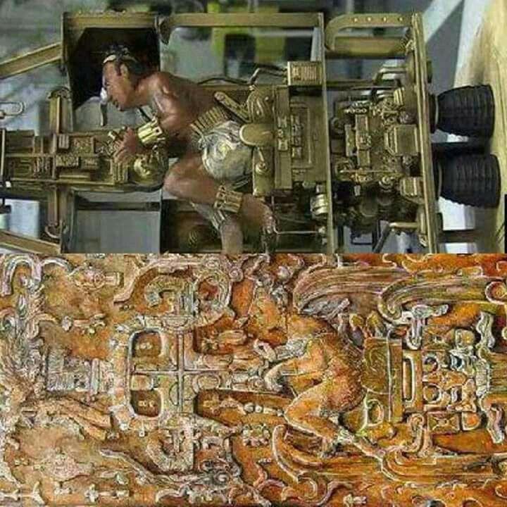 Temuan relief Suku Mayan yg ketika diilustrasikan …