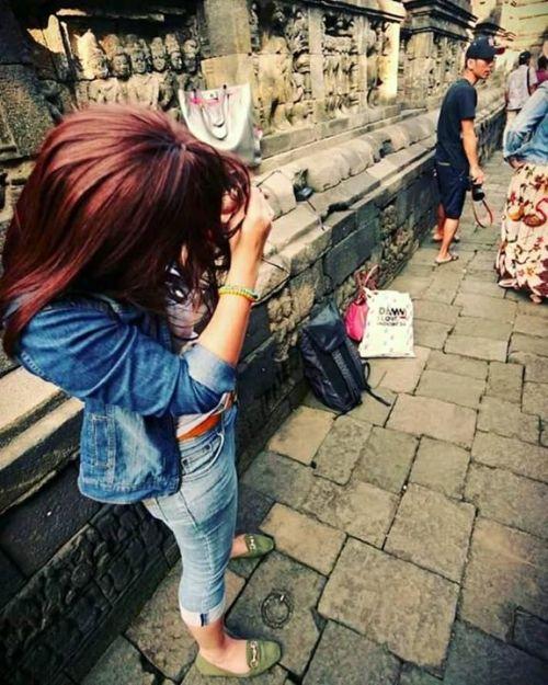Susunan batuan lantai candi Borobudur mirip dgn …