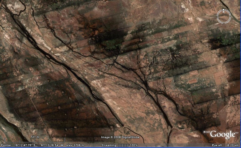 satellite images canals Altiplano