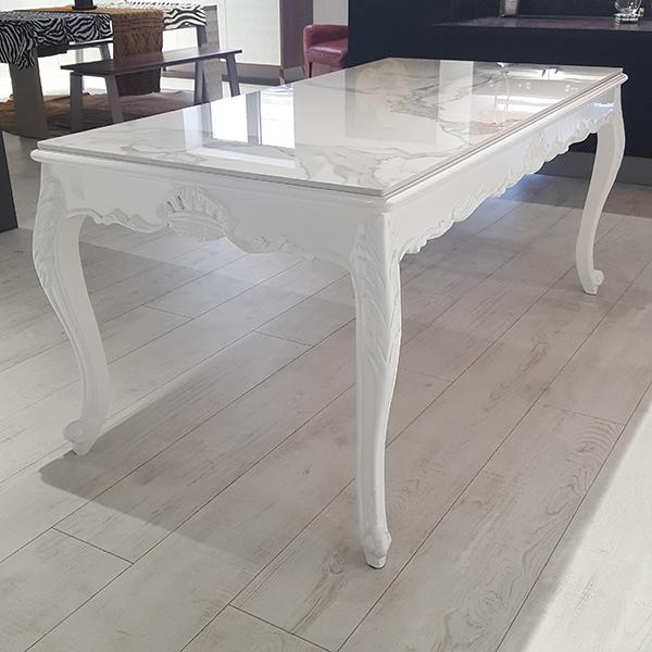 table baroque blanc