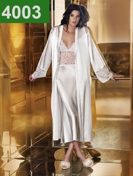 4003 - 2 Pieces Satin Nightgown Set