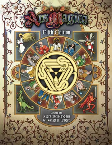 Image result for ars magica 5th edition rulebook