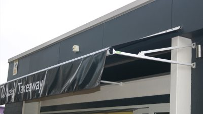 Fixed No Frame Fabric Awnings - Atlas Awnings