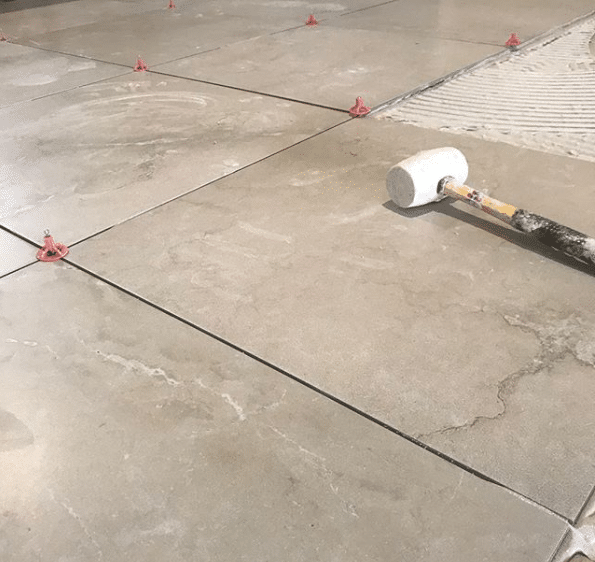 how to tile an uneven floor a step by