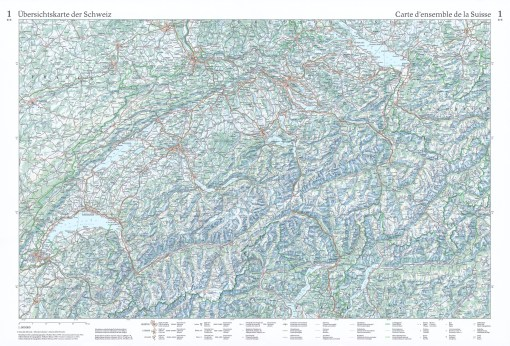Overview map of Switzerland