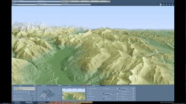 Hypsography: Coloring of the terrain according to the altitude