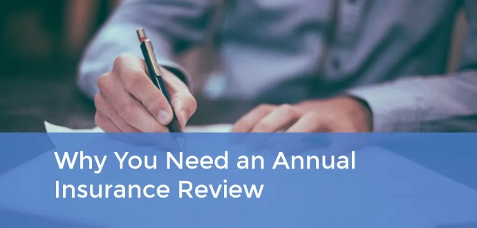 Why You Need an Annual Insurance Review