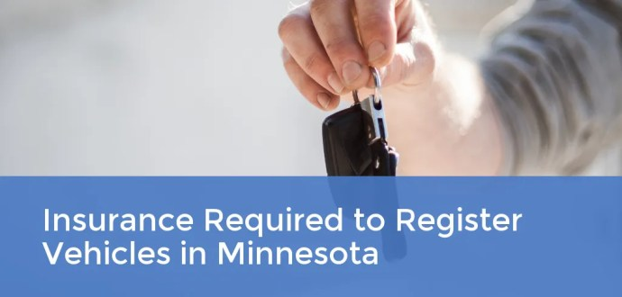Insurance Required to Register Vehicles in Minnesota