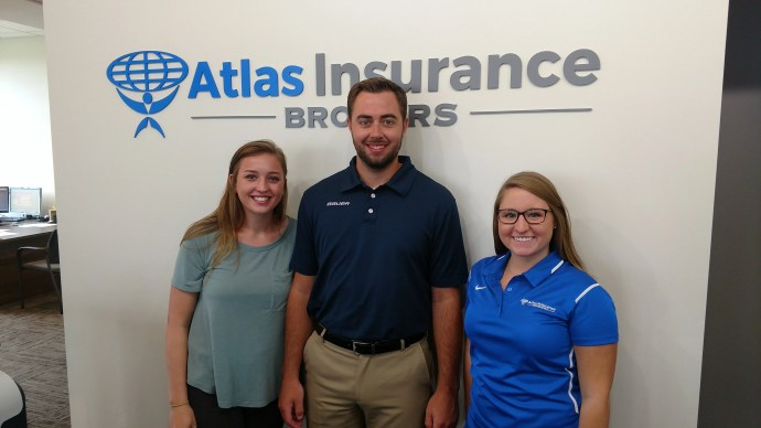 New Atlas team members Sydney Tobin, Rory Vesel, and Jenna Anderson