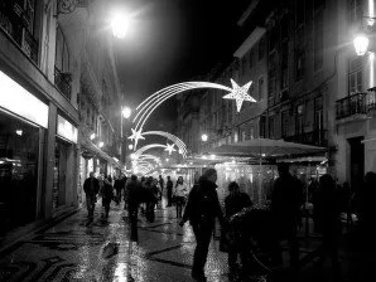 Light Decorations in Lisbon during Christmas
