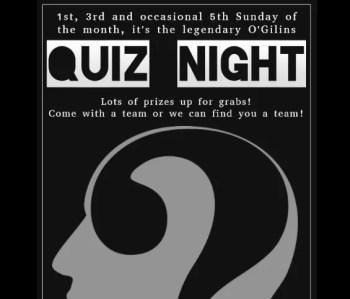 Biweekly | QUIZ NIGHT | O'Gilin's Irish Pub Quiz | Cais do Sodré | FREE @ O'Gillin's Irish Pub | Lisboa | Lisboa | Portugal