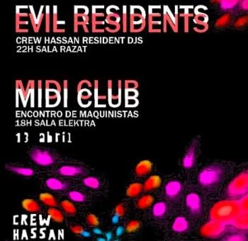 MUSIC | Evil Residents and Midi Club at Crew Hassan | Intendente | FREE @ Crew Hassan | Lisboa | Lisboa | Portugal