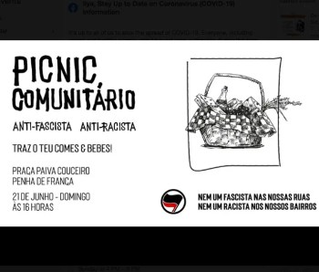 ACTIVISM | PicNic Comunitário: Anti-fascist and Anti-racist | Penha França | FREE