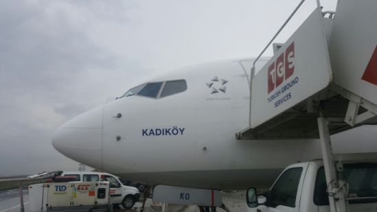 türk havayolları kadıköy uçağı