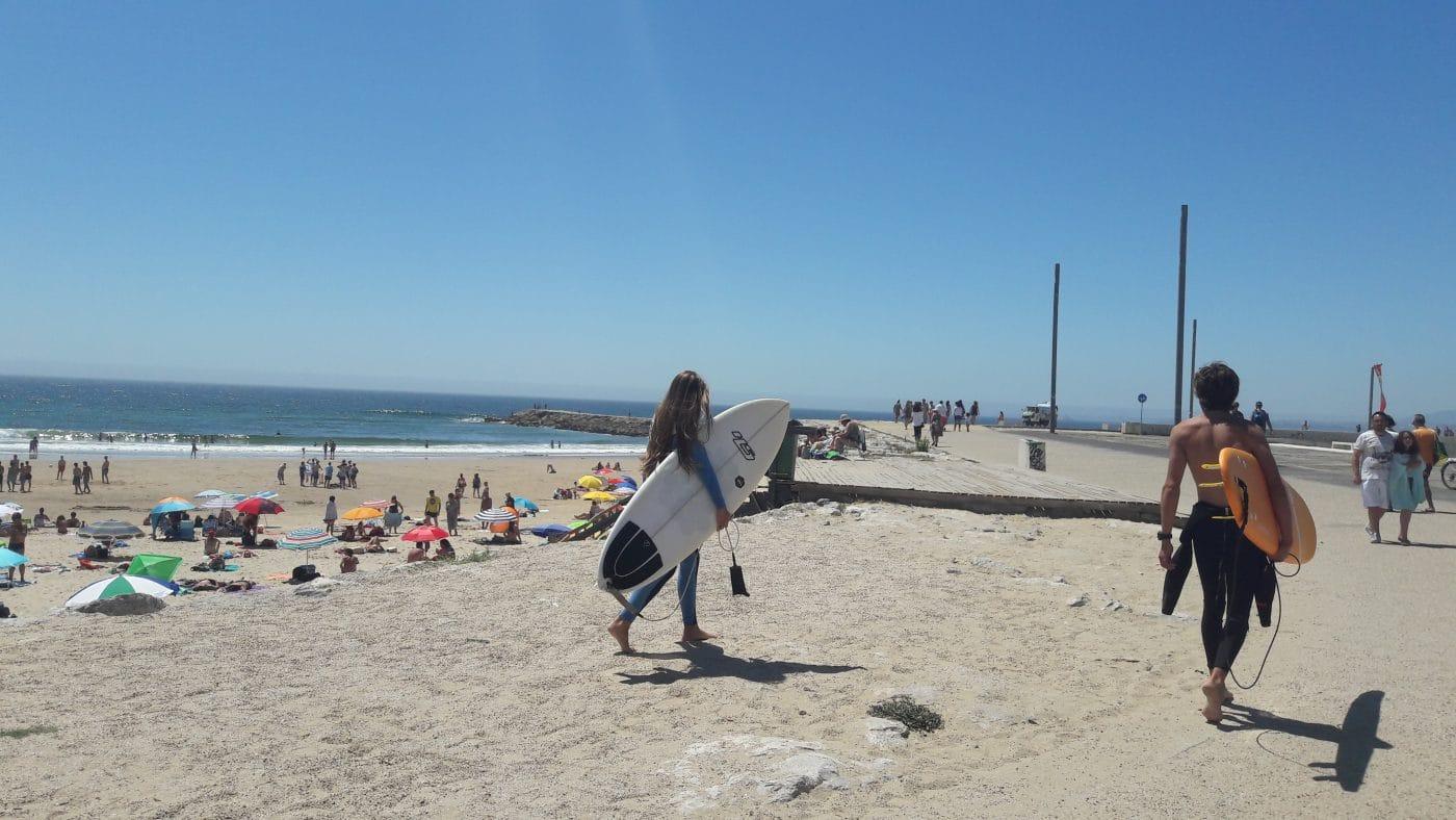 lizbon sörf plajları