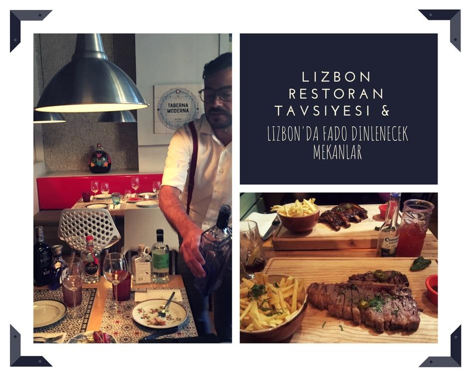Lizbon restoran tavsiyesi ve Lizbon'da Fado dinlenecek mekanlar