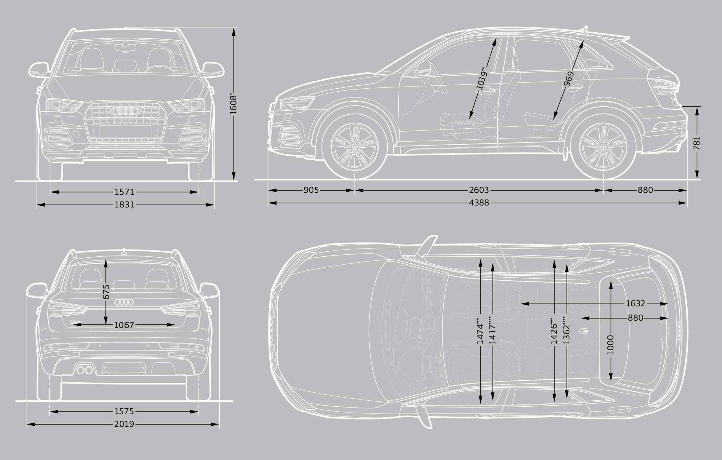 Audi Q3 Interior Dimensions