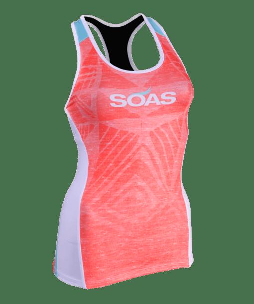 SOAS - Coral Tri Top