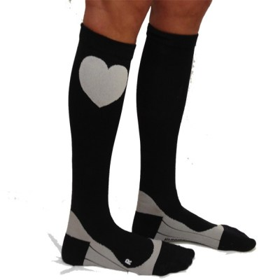Compression Socks - Black with Heart