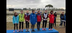 Il Podio ragazze con Ginevra Di Mugno, 1 class. e Veronica Lombardi, 2 class.