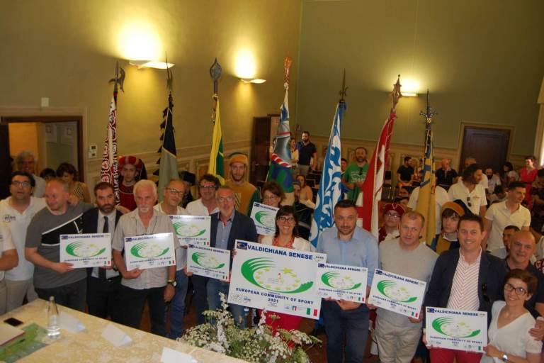 Valdichiana Senese ha ottenuto la bandiera di Comunità Europea dello Sport 2021