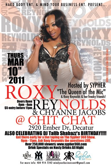 Hard Body Ent And Mind Your Business Ent Present Roxy Reynolds Chyanne Jacobs Live Chit Chat Thursday March 10th Located 2920 Ember Dr In Decatur