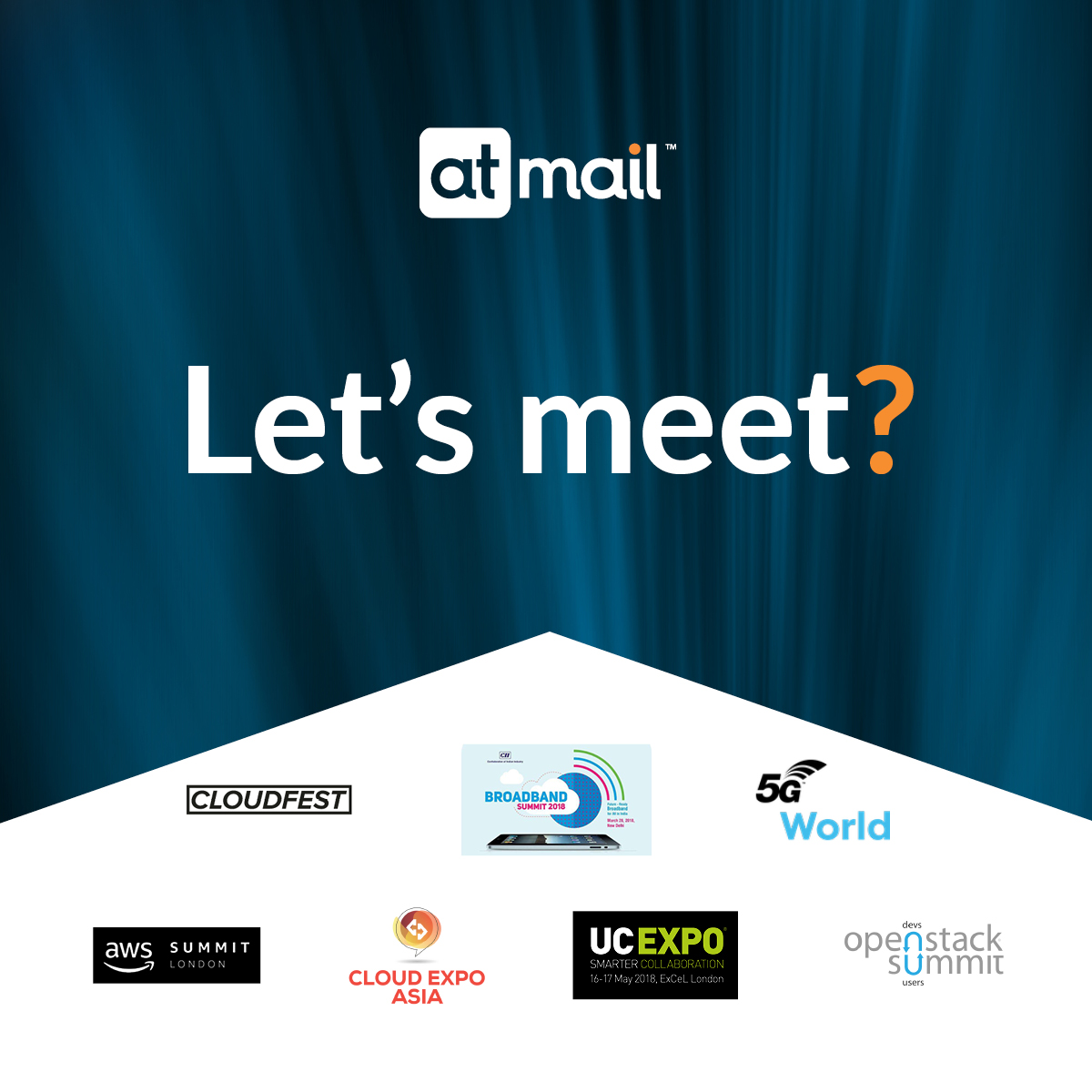 atmail events 2018 - email events - email providers - email service providers