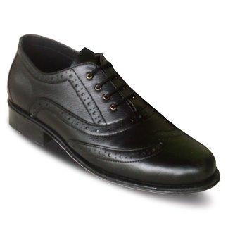 sepatu kulit kantor pria brogue oxford A05 black - atmal