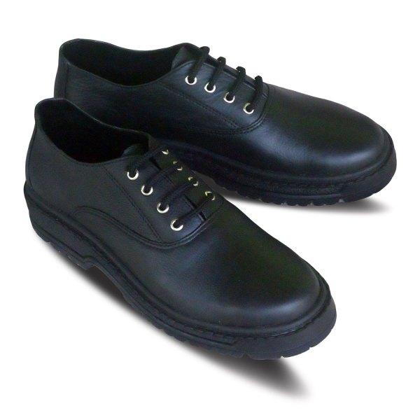 sepatu kulit kantor pria oxford A06 black - atmal