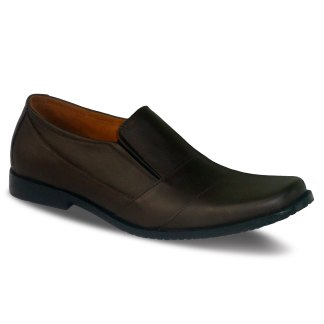 sepatu kulit pantofel pria loafer A07 brown - atmal