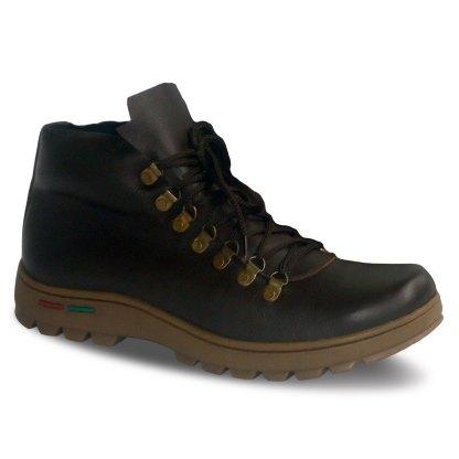 sepatu kulit pria boots B02 brown - atmal