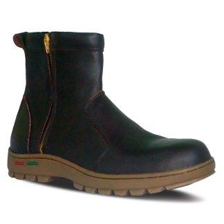 sepatu kulit pria boots B06 brown - atmal