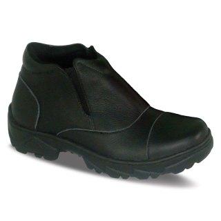 sepatu kulit pria boots B07 black - atmal