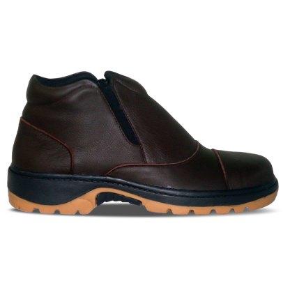 sepatu kulit pria boots B07 brown - samping - atmal