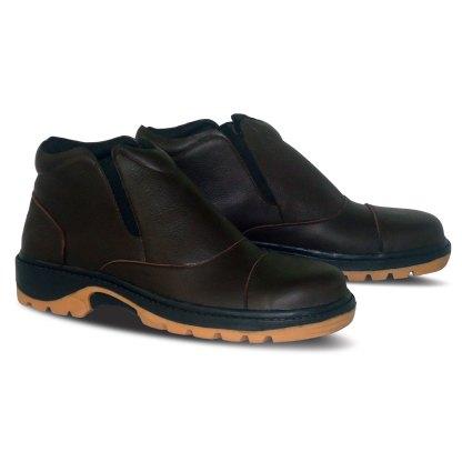 sepatu kulit pria boots B07 brown - 2 - atmal