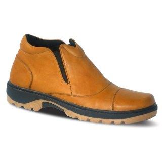 sepatu kulit pria boots B07 tan - atmal