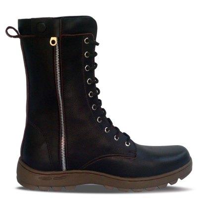 sepatu kulit pria derby boots B11 brown - inside - atmal