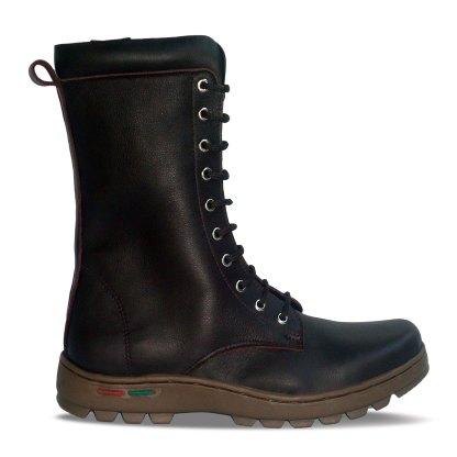 sepatu kulit pria derby boots B11 brown - outside - atmal