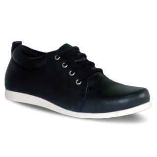 sepatu kulit pria derby casual C10 black - atmal
