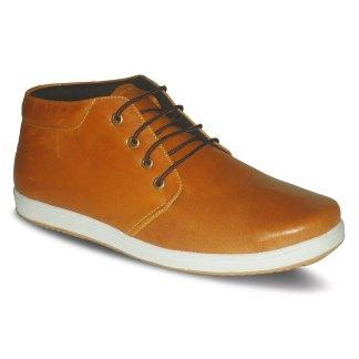 sepatu kulit sneakers derby D01 tan - atmal