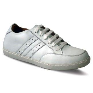 sepatu kulit sneakers D05 white - atmal