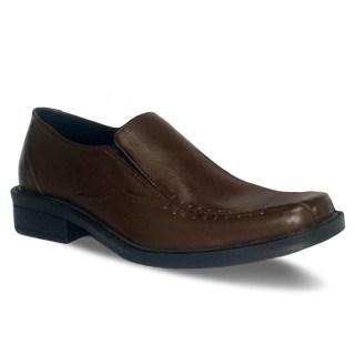sepatu kulit pantofel pria loafer A08 brown - atmal