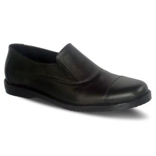 sepatu pantofel pria loafer A11 black kulit - atmal