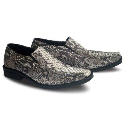 sepatu kulit ular python pantofel pria python loafer AP01 natural - 2 - atmal