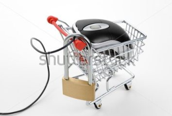 stock-photo-shopping-cart-lock-and-computer-mouse-concept-of-online-shopping-security-56461597