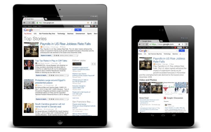 Google News Blog: A better Google News experience on tablets
