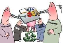 Visa and MasterCard Interchange Rate Comic