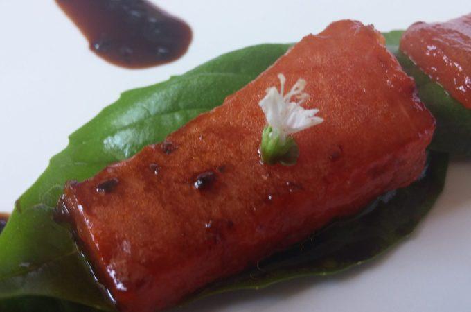 Jalapeno Basil Melon Bites