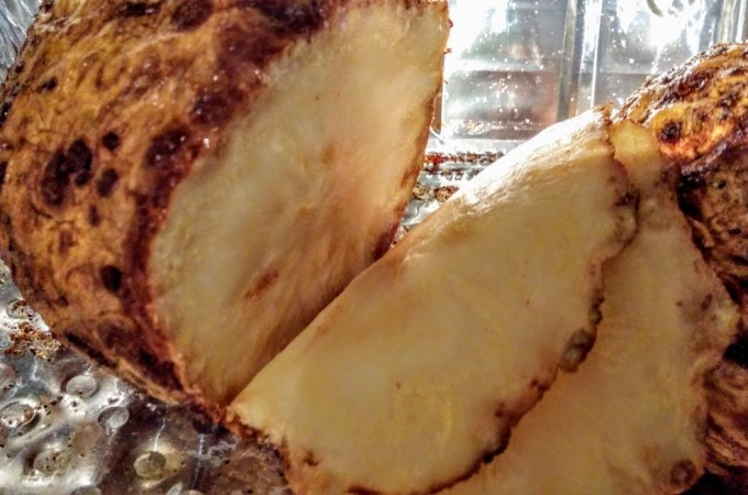 The Magic of Celeriac (Part One of Three):  Simple Celeriac Roast