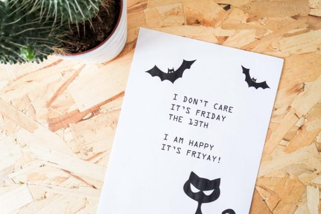 At mi casa - Printable quote - Friday 13th
